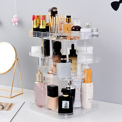 Rotating MakeUp Cosmetic Case Organizer Storage Display Stand Skin Care Holder • 11.95£
