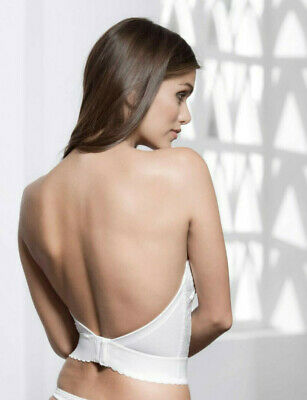 Low Back Wedding Bustier, Strapless, By Pourier 213, IVORY, 34A. Ex-stock, NWT. • 29.99£
