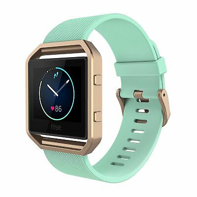AU17.99 • Buy Silicone Wristwatch Strap For Fitbit Blaze Band With Metal Frame Buckle 6.7-8.1