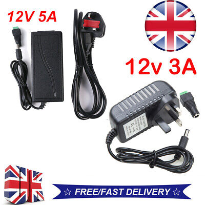 Dc 12v 1a/3a/5a Power Supply Adapter Charger For Camera / Led Strip Light Cctv • 5.40£