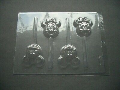4 On 1 Mickey/minnie Mouse Lolly Mould/moulds/disney/cartoon/childrens/kids/gift • 6.50£