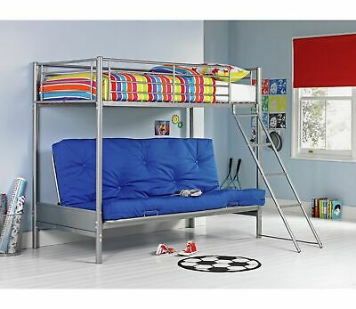 Home Metal Bunk Bed Frame (Without  Double Blue Futon Base) • 149.99£