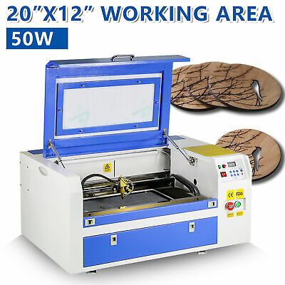 50W CO2 Laser Engraving Cutting Machine 300mmx500mm Engraver Cutter 220V USB New • 979.93£