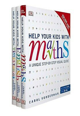 Carol Vorderman 3 Books Collection Set Help Your Kids With Maths, English, Times • 17.99£