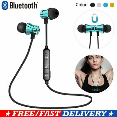 Wireless Bluetooth Earphones Headphones Sport Gym For Samsung & IPhone UK STOCK • 8.99£