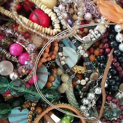 Joblot Mixed Costume Jewellery 1kg Kilo Bundle Resell Dress Up Craft Wear Mix • 10.99£