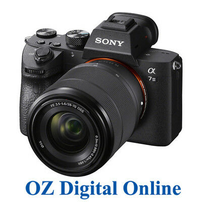AU2649 • Buy NEW Sony A7 III 28-70mm Kit Mirrorless 24MP 4K Full HD Digital Camera 1Yr Au Wty