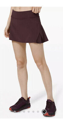 $ CDN82.47 • Buy NEW LULULEMON Play Off The Pleats Skirt *13  Cassis Zip Pocket Size 10 NWT