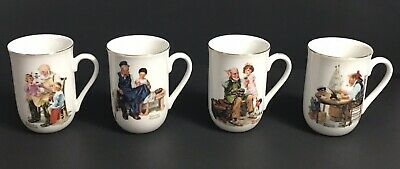 $ CDN19.76 • Buy Norman Rockwell Museum Porcelain Coffee Tea Cups Mugs 1982 Lot Of 4