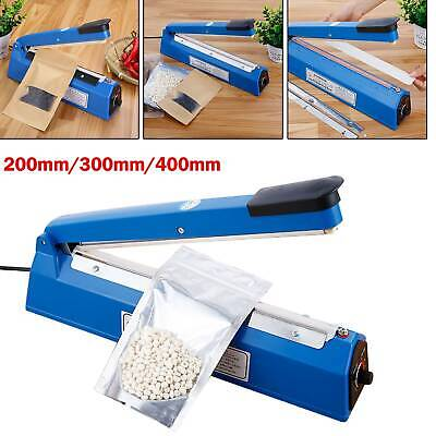 Impulse Heat Sealer Plastic Bag Film Sealing Machine Metal ABS 200mm 300mm 400mm • 11.79£