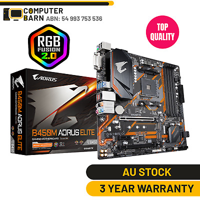 AU159.65 • Buy Gigabyte B450M Aorus Elite Gaming PC Motherboard AMD AM4 Ryzen MATX RGB Fusion