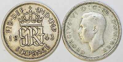 1937 To 1946 George VI Silver Sixpence Your Choice Of Date / Year • 1.95£