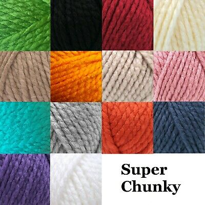 Robin Super Chunky Knitting Wool Yarn Knit Crochet 18 Colours 100g Balls • 1.90£