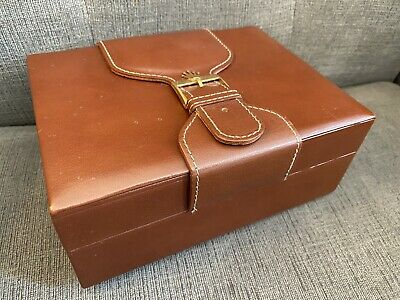 $ CDN460.05 • Buy Vintage Rolex President Creation Geneve Leather & Wood Watch Box