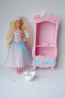 Mini Kingdom Barbie Swan Lake Doll With Chest/dresser Swan And Brush. 6  Doll • 9.99£