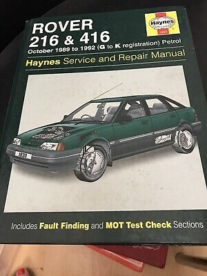 Haynes Rover 216 And 416 Service And Repair Manual • 4£