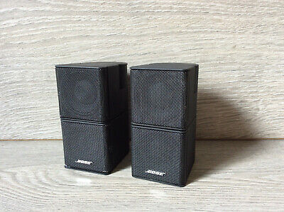2 X Bose Black Jewel Double Cube Lifestyle Accoustimass Speakers 5 10 28 38 48  • 79£
