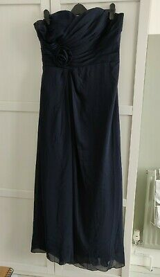 Grace Karin 16 Navy Blue Strapless Maxi Ball Gown Wedding Bridesmaid Dress  • 40£