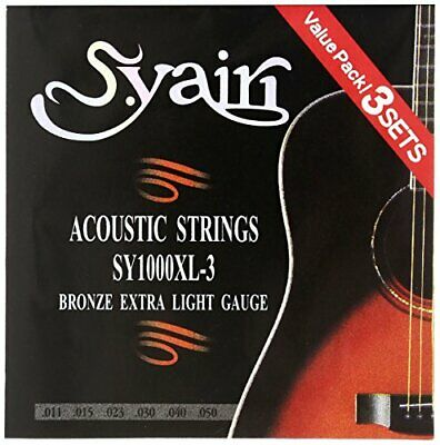 AU51.35 • Buy S.Yairi Acoustic Guitar String SY-1000 XL-3 3 Pack Pack Extra Light (011 - 050)