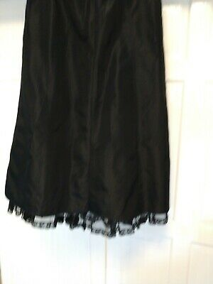 Luisa Spagnoli Long Black Skirt With Bottom Netting Size  Eur48/ Uk 20 • 50£