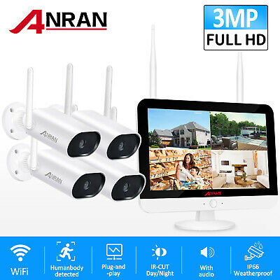 Outdoor 1080P CCTV Security Camera System WiFI Wireless 1080P 8CH NVR 12  Screen • 169.67£