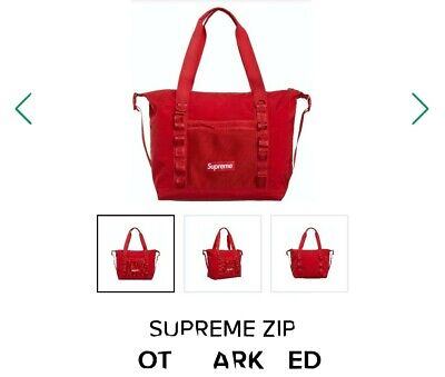 $ CDN227.89 • Buy Supreme Zip Tote Bag Red Fw20 (ready To Ship) New**