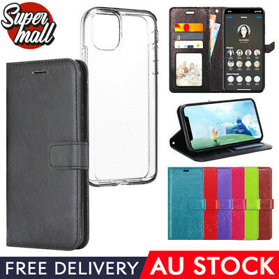 AU6.98 • Buy IPhone 11 Pro Max X XR XS 8 7 6 Plus Leather Wallet Flip Case Clear Gel Apple AU