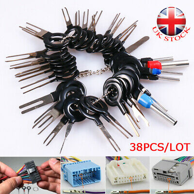 38x Wire Terminal Removal Tool Kit Car SUV Electrical Wiring Crimp Connector Pin • 4.73£