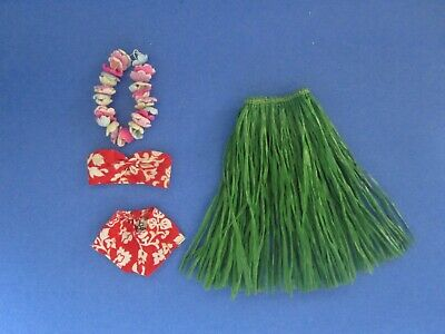 $ CDN45 • Buy Mattel Vintage Barbie In Hawaii  #1605 (1964) - Swimsuit, Grass Skirt, Lei