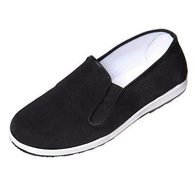 Comfortable Traditional Tai-chi / Kung Fu Rubber Sole Slip On Shoes - Black • 9.99£