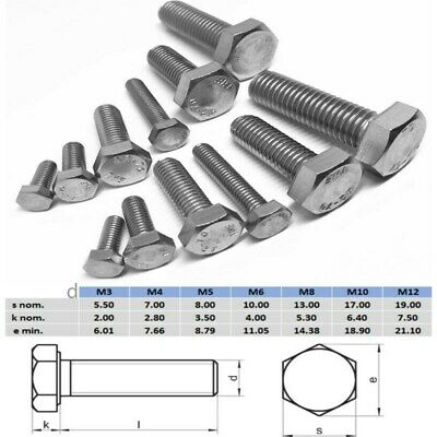 AU6.20 • Buy M3 M4 M5 M6 Metric Coarse Hex Set Screw Bolt Full Thread Stainless Steel 304