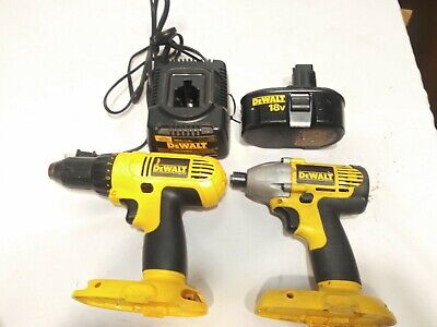 $109 • Buy DEWALT DC759 DW056 18V DRILL & IMPACT DRIVER With 1 Battery And Charger