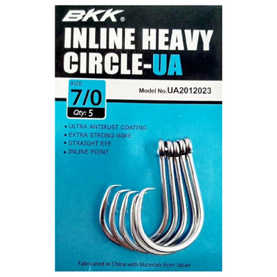 AU9.99 • Buy BKK Inline Heavy Circle Hooks Fishing Gear