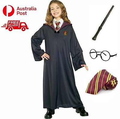 AU29.99 • Buy Harry Potter Costume Kids Girl Boy Book Week Robe Glasses Wand Tie Free Express