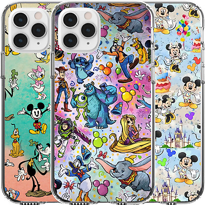 AU14.95 • Buy Silicone Cover Case Disney Mickey Maleficent Donald Stitch Monsters Toy Story