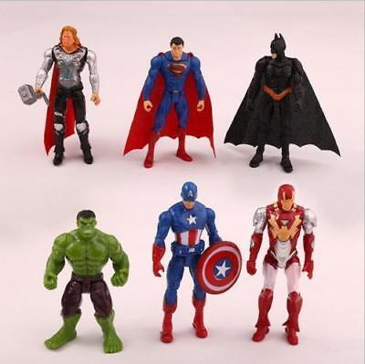 £9.99 • Buy 6pc Avengers Figures Super Hero Incredible Action Figures Toy Doll Collection