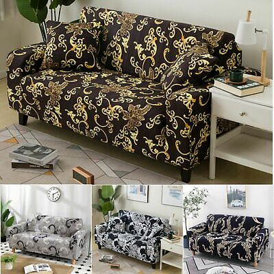 AU27.06 • Buy Super Stretch Floral Sofa Couch Cover Lounge Seat Slipcover 1 2 3 4 Seater Decor