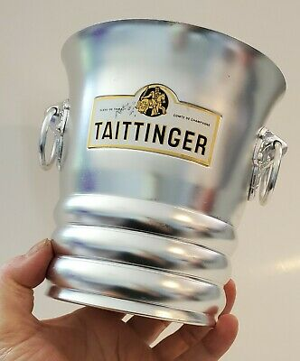 French Champagne Aluminum Wine Champagne Ice Bucket TAITTINGER REIMS FRANCE  • 28.92£