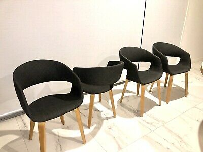 AU70 • Buy Scandinavian Dining Chairs Charcoal (Will Only Sell Set Of 4 / 6 / 8)