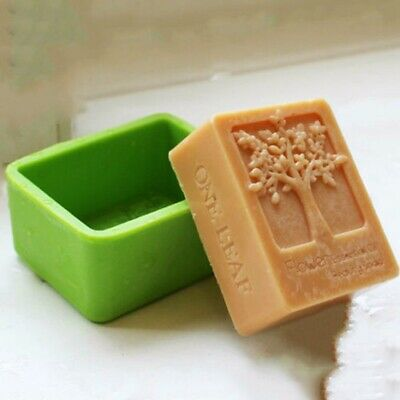 Life Tree Rectangle Silicone Soap Mold Craft Molds DIY Handmade Soap Mould·UK • 4.39£
