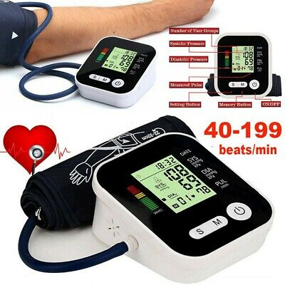 Automatic Blood Pressure Monitor Upper Arm Digital BP Machine With Large Cuff.UK • 14.39£