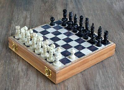 £55.79 • Buy Marble Chess Set 25.5 Cm Classic Staunton Chess Board Game Box With Storage
