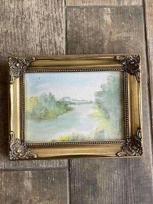 """Beautiful Gold Gilt Photo Picture Swept Frame Rococo Baroque 5"""" X 7"""" Painting • 22.49£"""