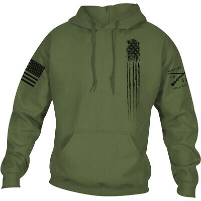 Grunt Style Beast Flag Pullover Hoodie - Military Green • 28.83£