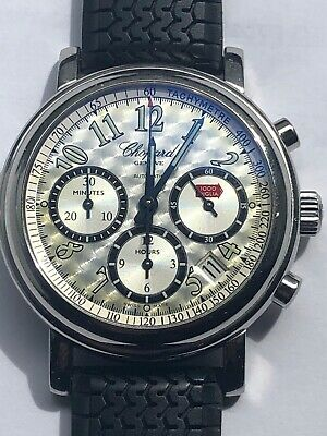 Mens Chopard Mille Miglia Chronograph Watch With Engine Turned Silver Dial • 1,872.61£
