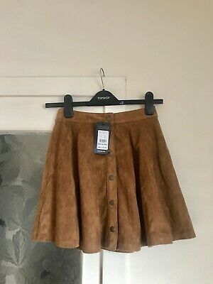 New With Tags❗️ New Look Ladies Tan/Brown Suede Button Up Skater Skirt Size UK 6 • 10£