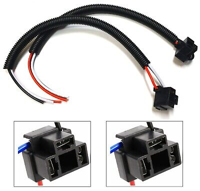 $10 • Buy Extension Wire Pigtail Female P A 9003 H4 Two Harness Head Light Connector Plug