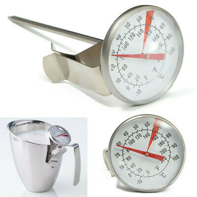 $6.85 • Buy Stainless Steel Coffee Milk Frothing Candy Liqued Probe Thermometer Clip Kitchen