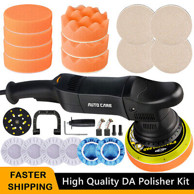 Dual Action 6  Car Polisher Buffer Sander Orbital Polishing Machine Pad Kit 700W • 69.59£