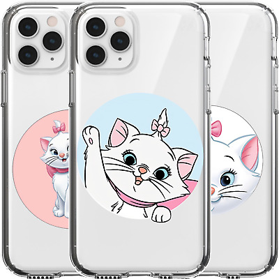 AU16.95 • Buy Silicone Cover Case Disney Marie Cat Cute Adorable Kitten White Pink Bow Tie